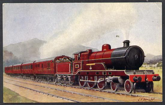 Postcard by J Salmon - London & North Western Railway Claughton type in LMS livery, in colour, unused and in good condition
