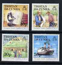 Tristan da Cunha 1987 50th Anniversary of Norwegian Scientific Expedition perf set of 4 unmounted mint, SG 434-37*