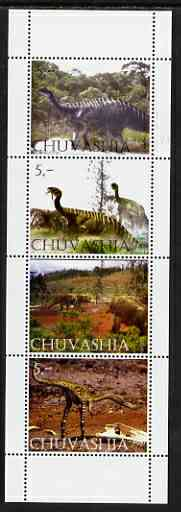 Chuvashia Republic 2003 Dinosaurs perf set of 4 values unmounted mint