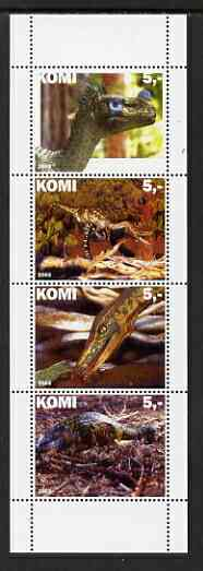 Komi Republic 2003 Dinosaurs perf set of 4 values unmounted mint