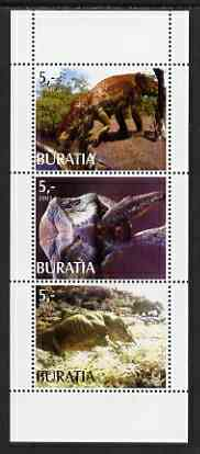 Buriatia Republic 2003 Dinosaurs perf set of 3 values unmounted mint