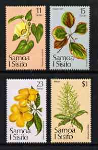 Samoa 1981 Christmas - Flowers perf set of 4 unmounted mint, SG 607-10
