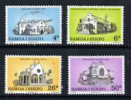 Samoa 1979 Christmas - Churches perf set of 4 unmounted mint, SG 556-59