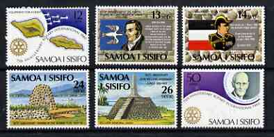 Samoa 1980 Anniversaries perf set of 6 unmounted mint, SG 565-70