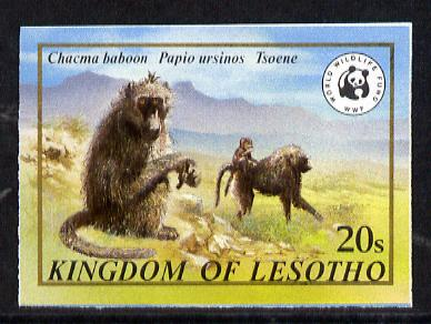 Lesotho 1981 WWF - Chacma Baboon 20s value imperf single unmounted mint as SG 469
