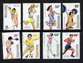 Samoa 1983 South Pacific Games perf set of 8 unmounted mint, SG 639-46*