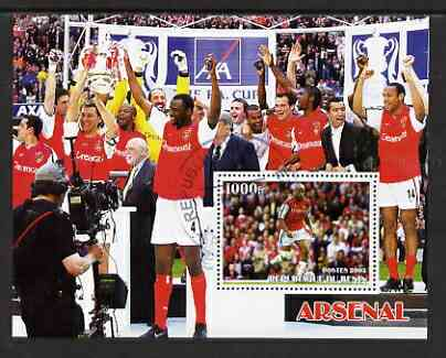 Benin 2003 Arsenal Football Club perf m/sheet cto used