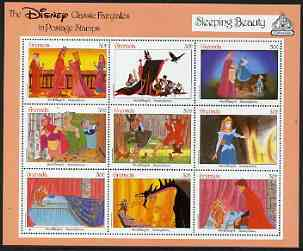 Grenada 1987 50th Anniversary of First Disney Full-length Cartoon Films - Sleeping Beauty perf sheetlet containing 9 values unmounted mint, as SG 1689-97