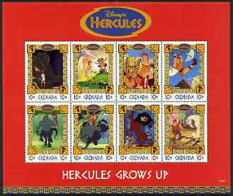 Grenada 1998 Hercules Disney Cartoon Film perf sheetlet containing 8 x 10c values unmounted mint, SG 3561-68