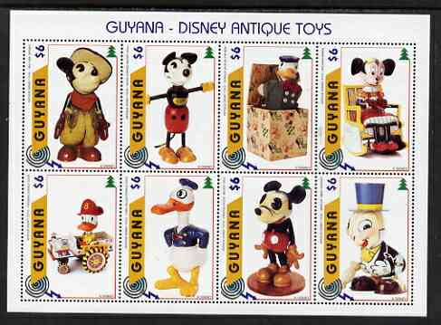 Guyana 1996 Disney Antique Toys perf sheetlet containing 8 values unmounted mint, SG 4799-4806