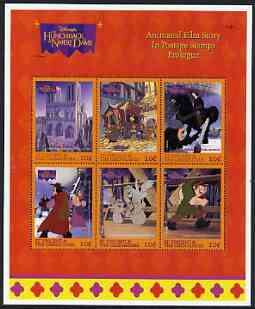 St Vincent - Grenadines 1996 Disney's Hunchback of Notre Dame perf sheetlet containing 6 x 10c values unmounted mint