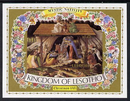 Lesotho 1981 Christmas Nativity by Botticelli imperf m/sheet unmounted mint, as SG MS 461