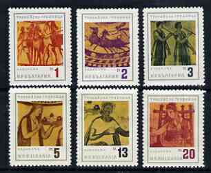 Bulgaria 1963 Thracian Tombs perf set of 6 unmounted mint, SG 1409-14