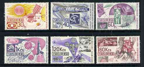 Czechoslovakia 1967 Space Research perf set of 6 unmounted mint, SG 1639-44