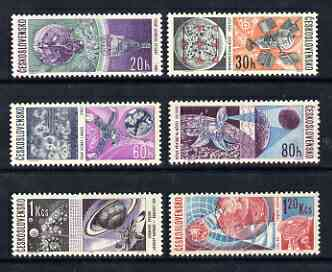 Czechoslovakia 1966 Space Research perf set of 6 unmounted mint, SG 1606-11