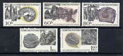 Czechoslovakia 1968 23rd Int Geological Congress perf set of 5 unmounted mint, SG 1760-64