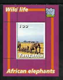 Tanzania 2003 Wild Life - Elephants perf souvenir sheet unmounted mint