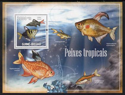 Guinea - Bissau 2009 Tropical Fish perf s/sheet unmounted mint