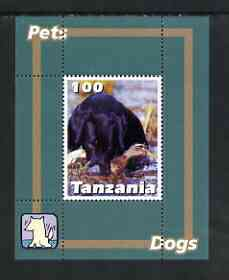 Tanzania 2003 Pets - Dogs perf souvenir sheet unmounted mint