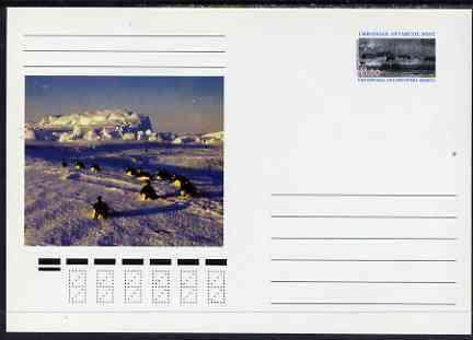 Ukranian Antarctic Post 1998 Polar Life #2 postal stationery card unused and pristine showing Scenic View & Penguins
