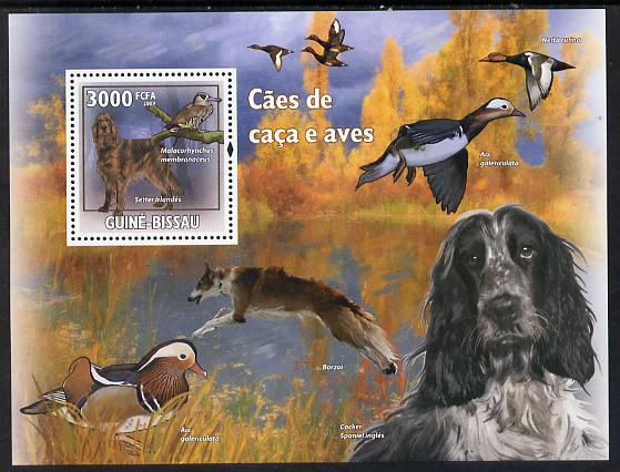 Guinea - Bissau 2009 Hunting Dogs & Birds perf s/sheet unmounted mint