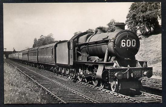 Postcard by Ian Allan - GWR up West of England Express hauled by County Class 4-6-0 No.1012 County of Denbigh, black & white, unused and in good condition