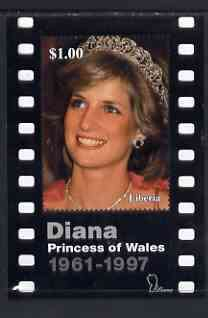 Liberia 1997 Princess Diana Memorial perf m/sheet (Portrait within strip of film) unmounted mint