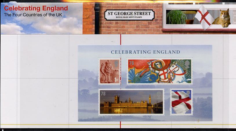 Great Britain 2007 Celebrating England perf m/sheet in official presentation pack unmounted mint SG MS EN19