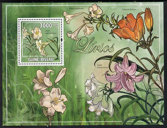 Guinea - Bissau 2009 Lilies perf s/sheet unmounted mint