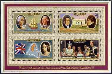 Cook Islands - Aitutaki 1977 Silver Jubilee perf m/sheet unmounted mint, SG MS229
