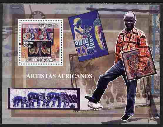 Guinea - Bissau 2009 Artists of Africa perf s/sheet unmounted mint Yv 449, Mi BL 699