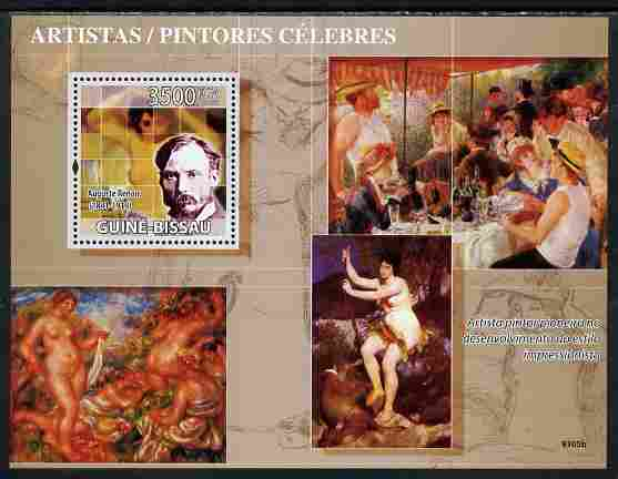 Guinea - Bissau 2009 Greatest Painters (Renoir) perf s/sheet unmounted mint Yv 451, Mi 696