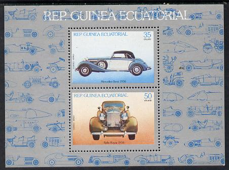 Equatorial Guinea 1979 Cars m/sheet containing 2 values (Mi 1507-08) unmounted mint