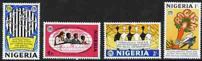 Nigeria 1971 Racial Equality Year perf set of 4 unmounted mint, SG 256-59*