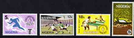 Nigeria 1973 Second All Africa Games perf set of 4 unmounted mint, SG 307-10*
