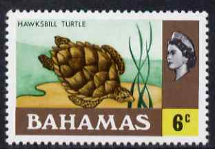 Bahamas 1971 Hawksbill Turtle 6c (CA upright wmk def set) unmounted mint, SG 364