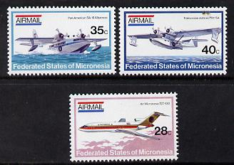 Micronesia 1984 Aircraft set of 3 values unmounted mint, SG 21-23