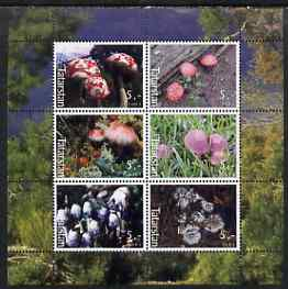 Tatarstan Republic 2003 Fungi perf sheetlet containing set of 6 values unmounted mint, stamps on fungi