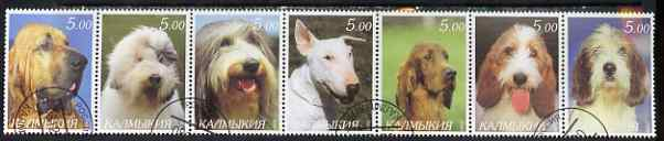 Kalmikia Republic 2000 Dogs perf set of 7 values complete fine cto used