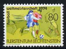 Liechtenstein 1975 Football World Cup unmounted mint, SG 593