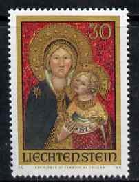 Liechtenstein 1975 Christmas - Madonna unmounted mint, SG 586