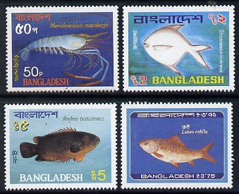 Bangladesh 1983 Fish set of 4 unmounted mint, SG 209-12