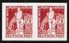 Germany - West Berlin 1949 75th Anniversary of Universal Postal Union 60pf lake-brown