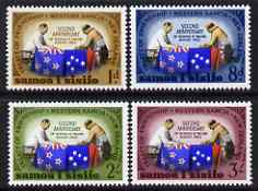 Samoa 1964 2nd Anniversary of New Zealand-Samoa Treaty of Friendship set of 4 unmounted mint, SG 253-256