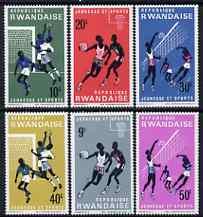 Rwanda 1966 Youth & Sports set of 6 unmounted mint, SG 162-67
