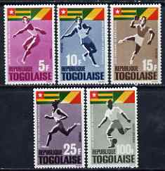 Togo 1965 first African Games set of 5 unmounted mint, SG 418-22
