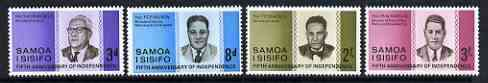 Samoa 1967 5th Anniversary of Independence set of 4 unmounted mint SG 274-77