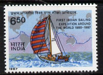India 1986 Indian Army Yacht Voyage unmounted mint, SG 1227