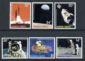 Samoa 1979 10th Anniversary of Moon Landing set of 6 unmounted mint SG 544-49
