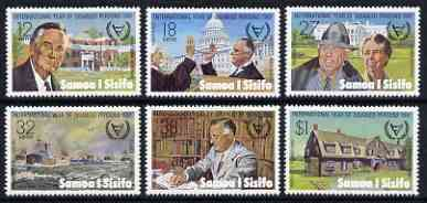 Samoa 1981 Int Year for the Disabled, Pres Roosevelt Commemoration set of 6 unmounted mint SG 588-93